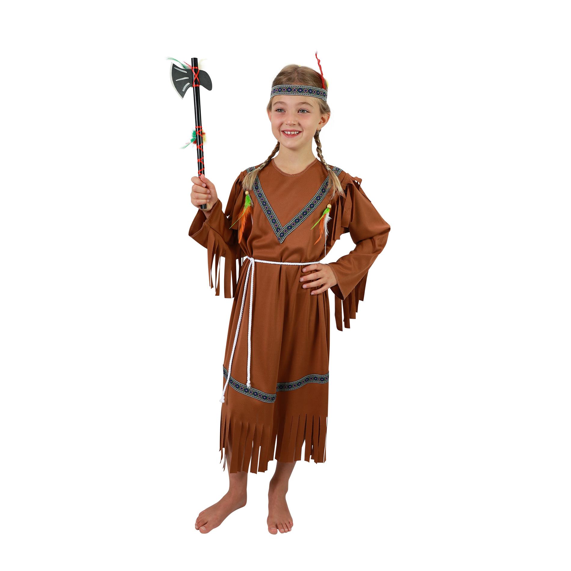 Dětský kostým indiánka s čelenkou (S)