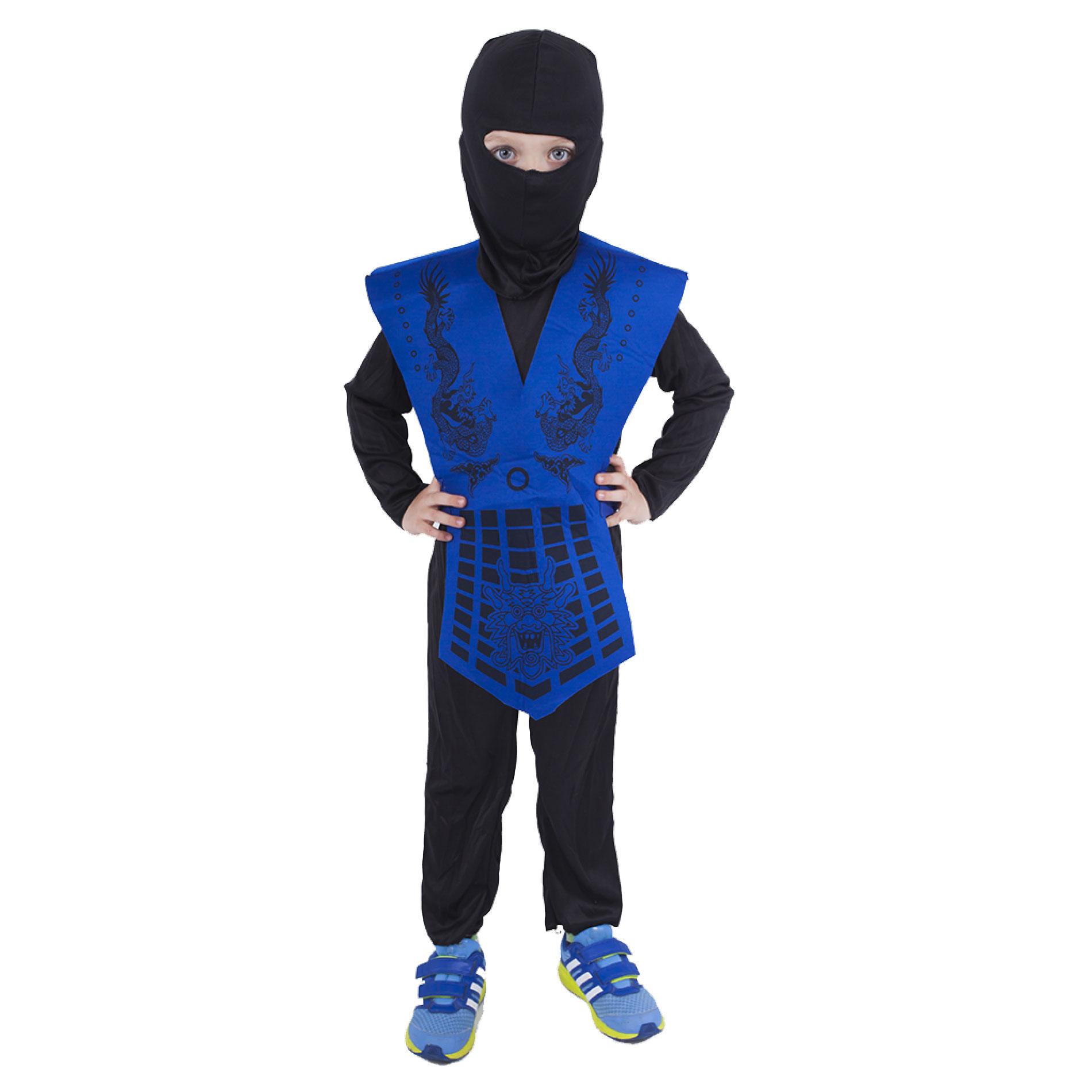 Dětský kostým modrý ninja (S)