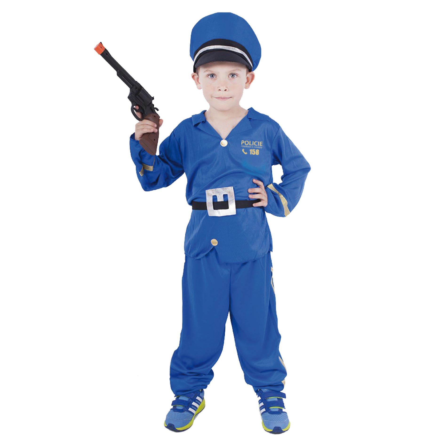 Dětský kostým policista s českým potiskem (M)