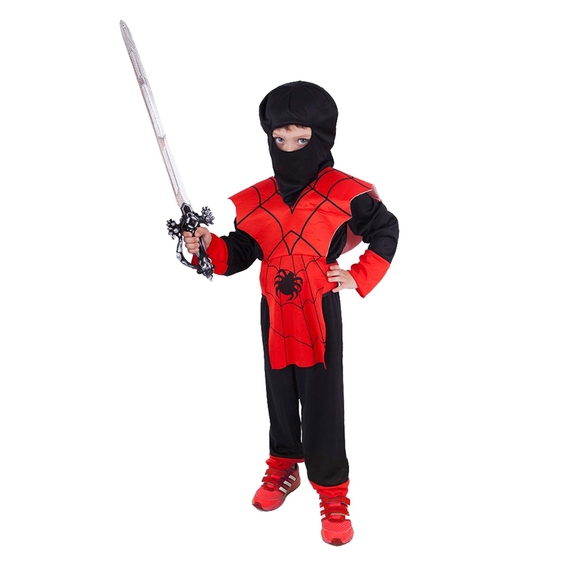 Dětský kostým červený ninja (M)