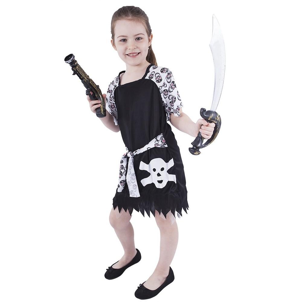 Dětský kostým Pirátka s lebkou Halloween (M)
