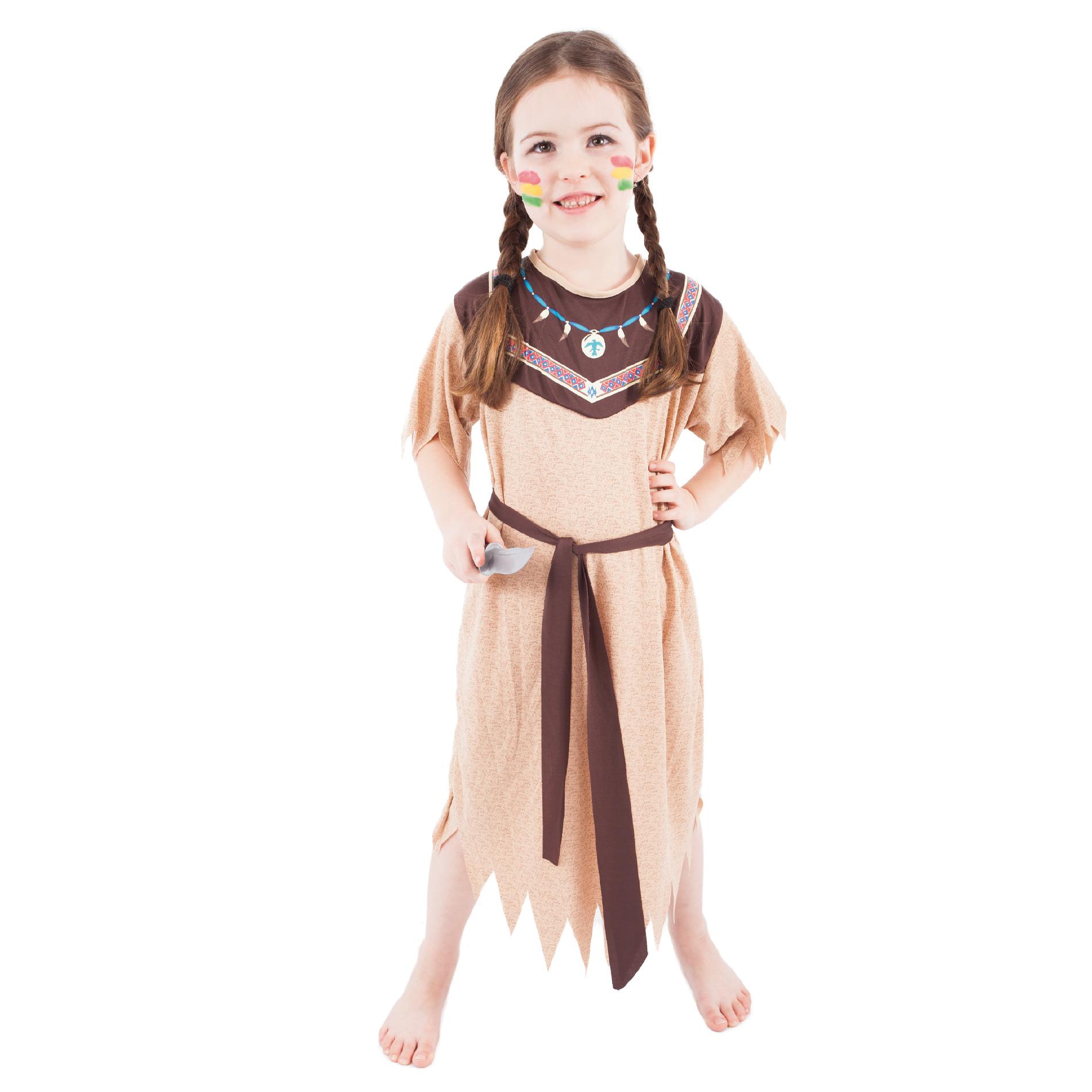 Dětský kostým Indiánka s páskem (M)