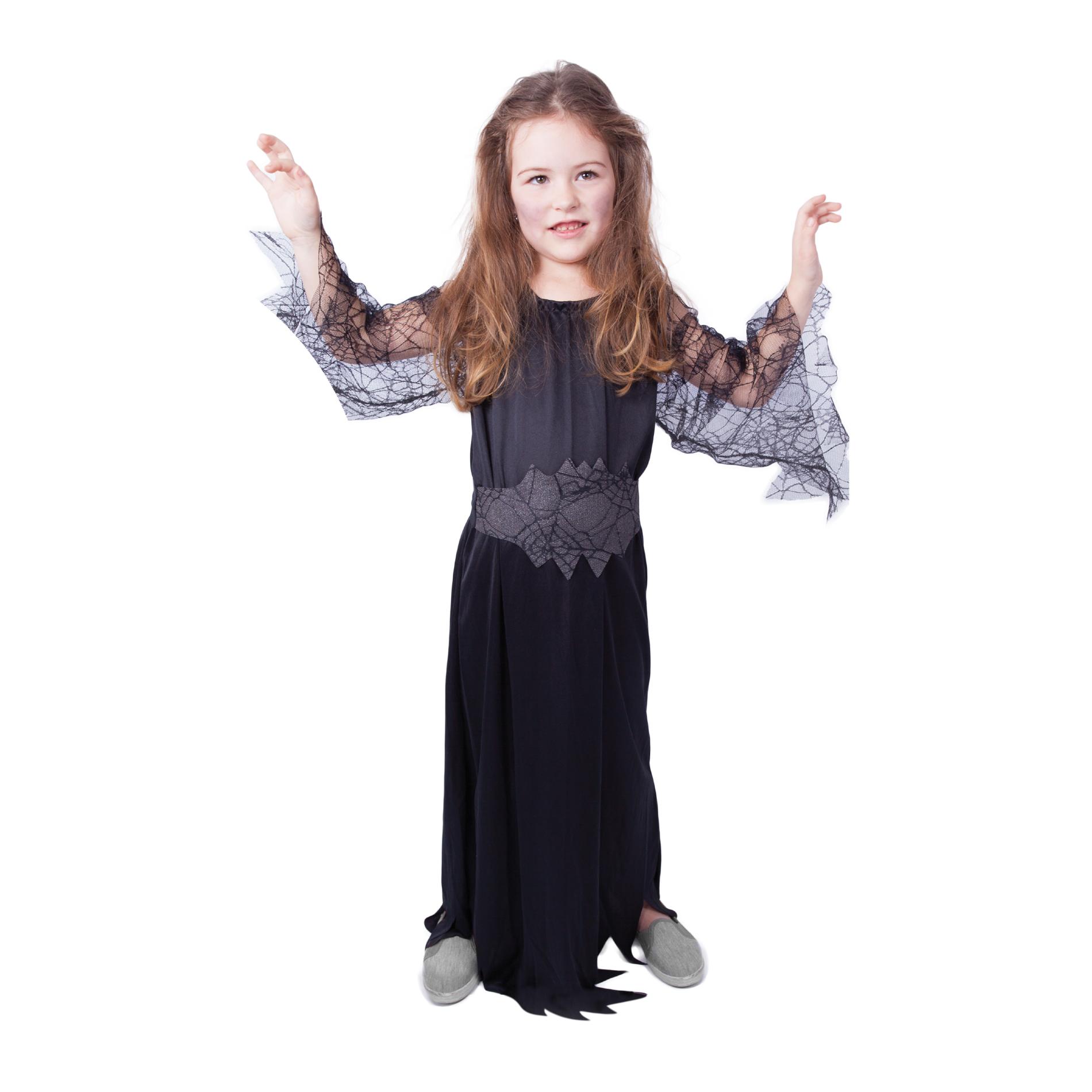 Dětský kostým černá čarodějnice/Halloween (M)