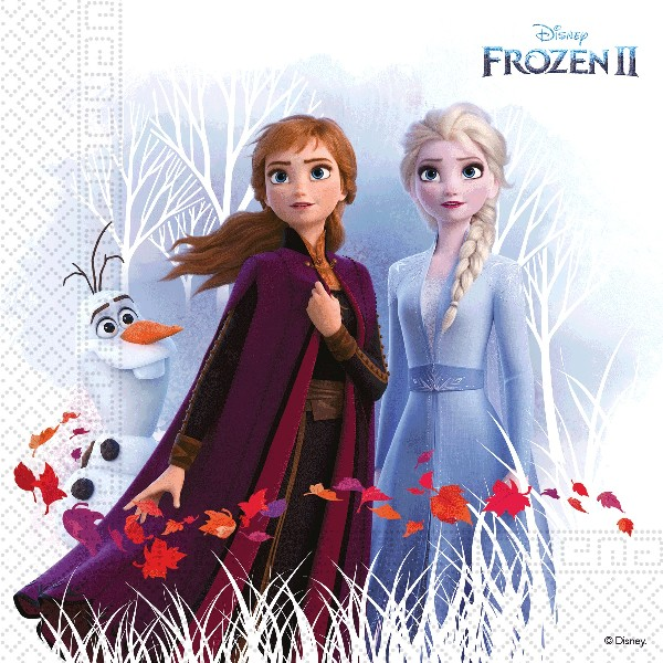 Ubrousky papírové Frozen II 20 ks ECO - rozložitelný