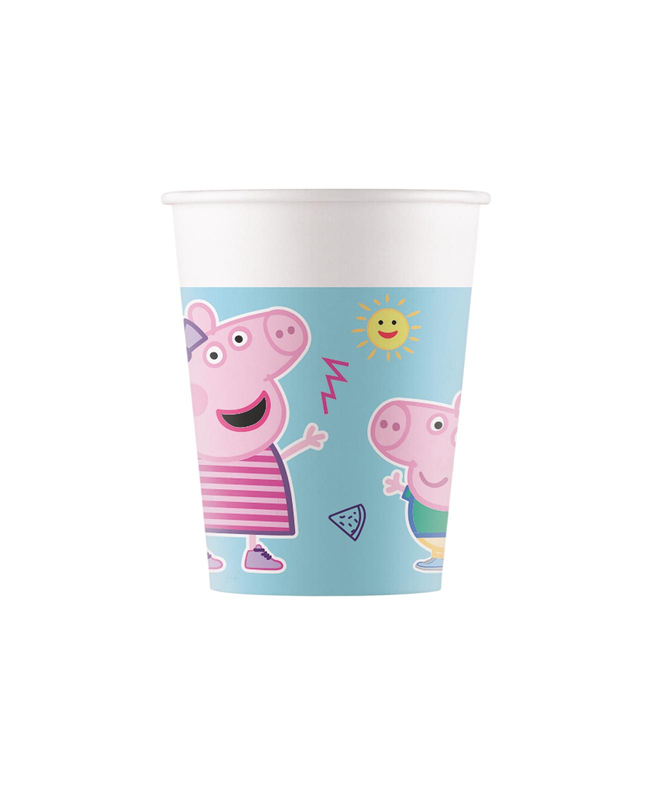 Kelímky 200 ml Peppa Pig 8 ks ECO - rozložitelné