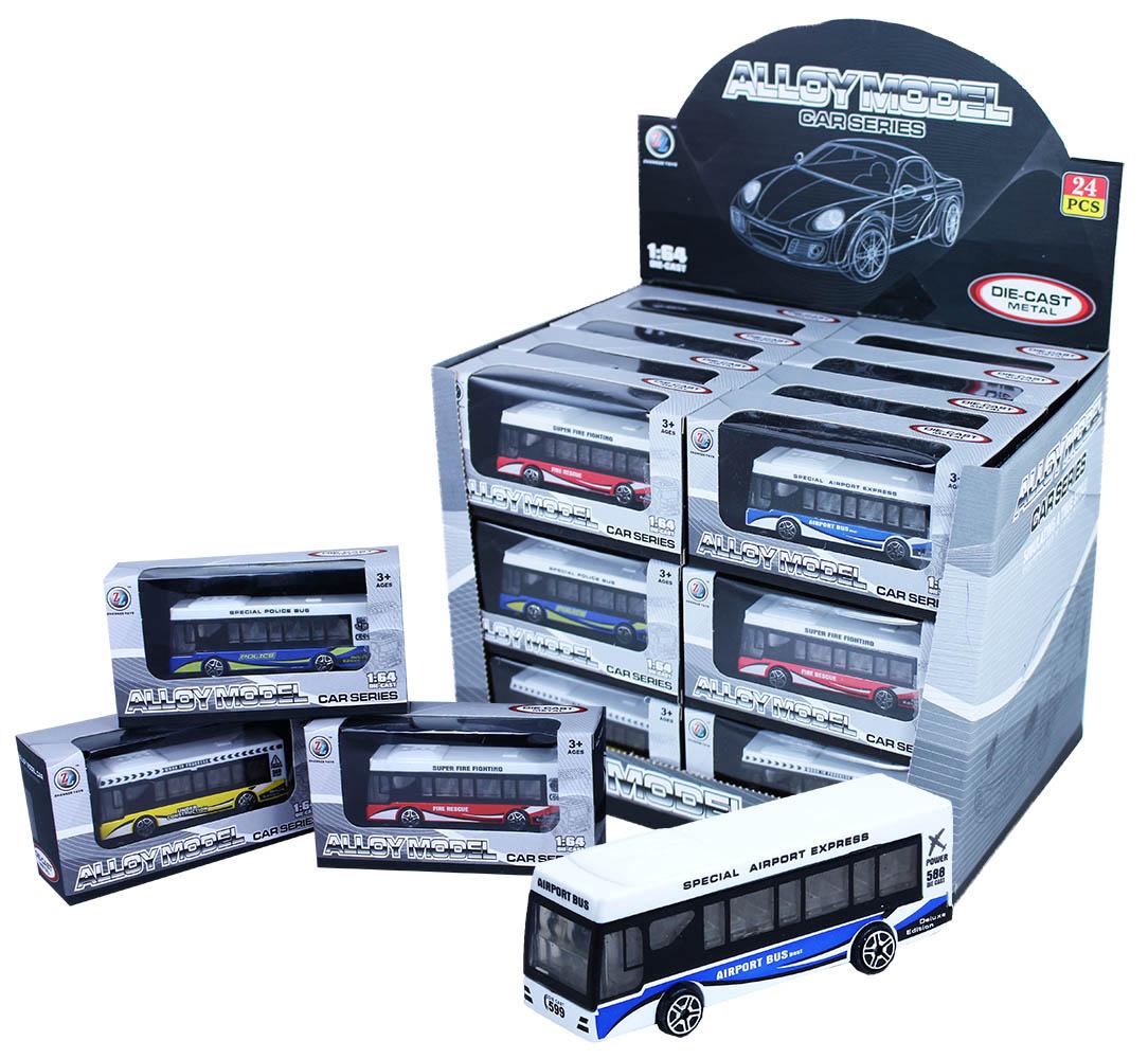 autobus kovový v krabičce, 3 druhy