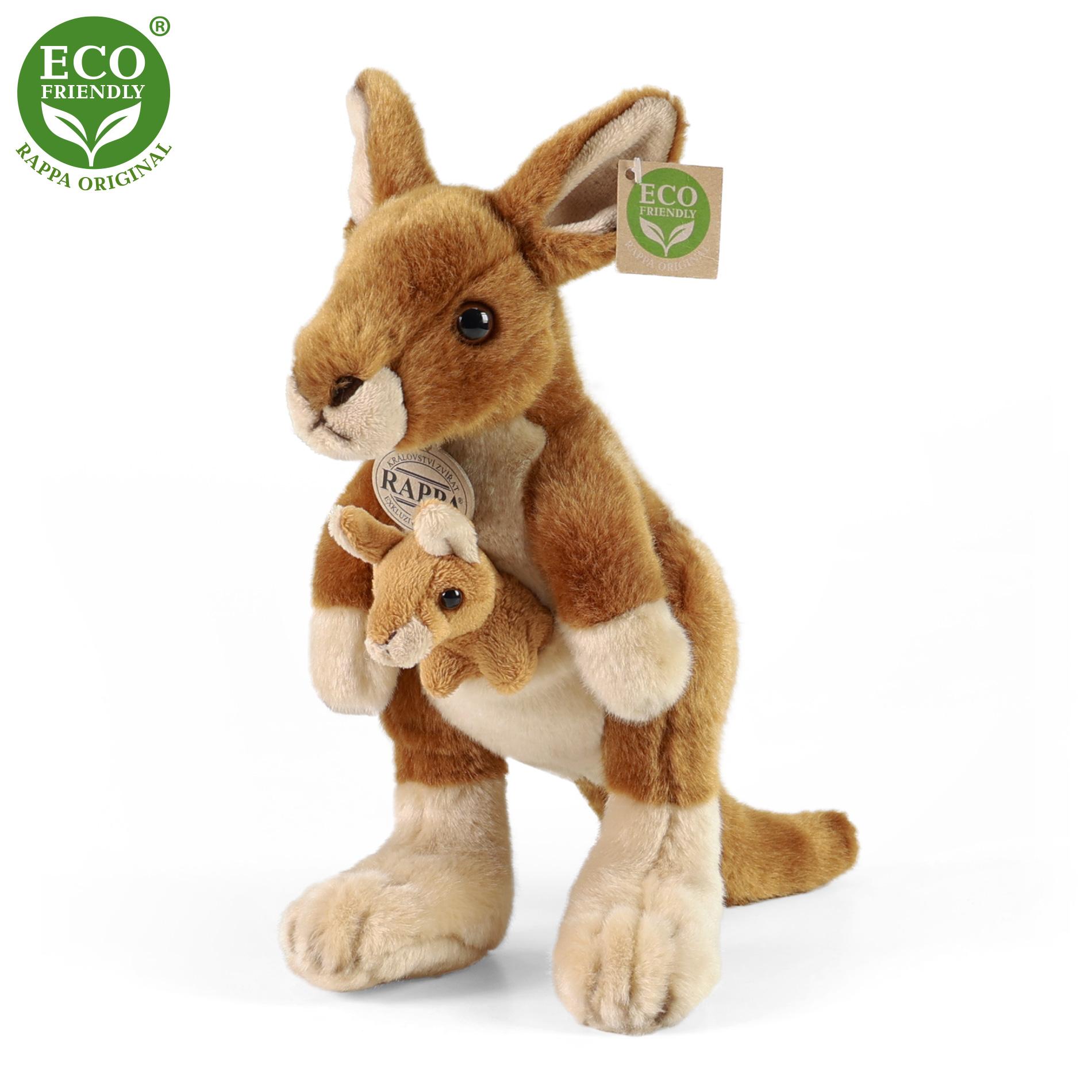plyšový klokan s mládětem, 26 cm