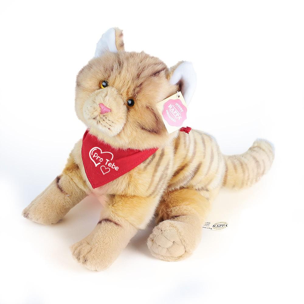 Plyšová kočka se šátkem 28 cm