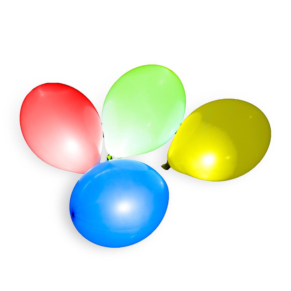 Nafukovací balónek s LED světlem 27 cm 3+1 ks v sáčku